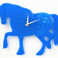 Horse clock for nursery or child's room