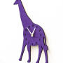 Look up! Way up! Every nursery needs a clock, and this Wood Giraffe Clock is sure to charm! Available in a variety of colors to match any nursery decor. | Available now at the Little Crown Interiors Boutique