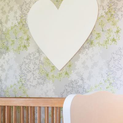 Wood wall heart