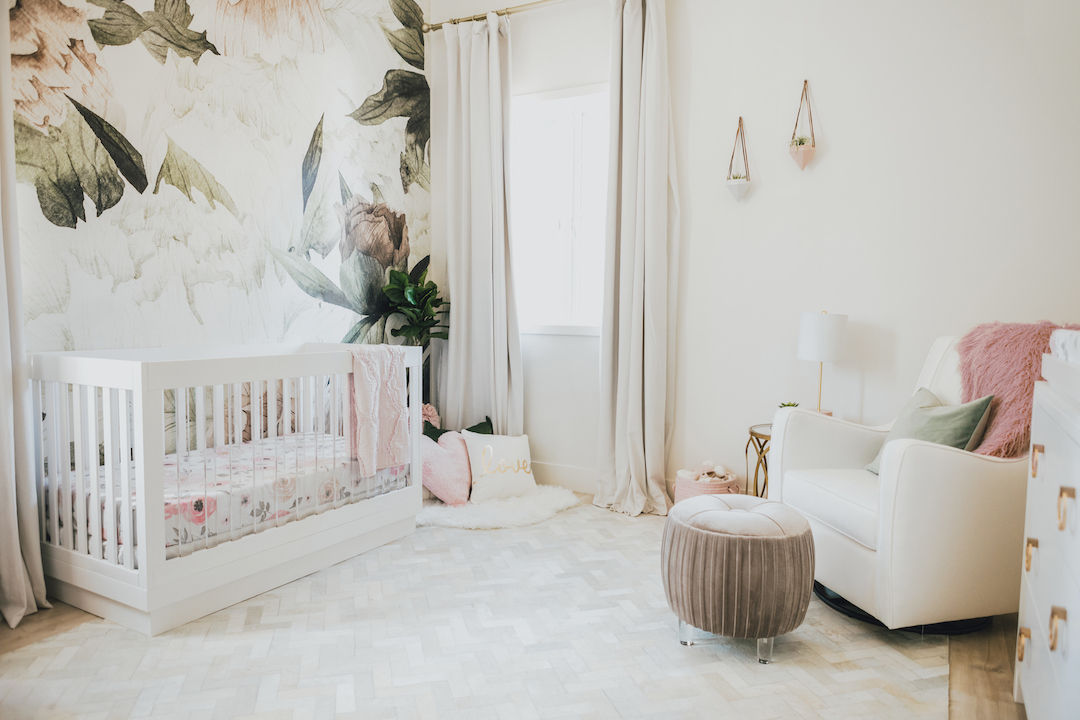 Floral Girl's Nursery Inspiration | Little Crown Interiors