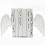 White Modern Angel Wing Bookends