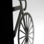 Modern Black Bicycle Bookends