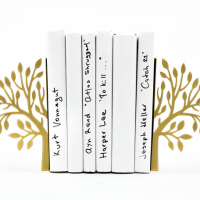Modern Gold Tree Bookends