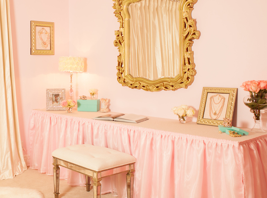 Pink Jewelry Wallpaper Framed Jewelry as Nursery Art