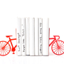 Modern Red Bicycle Bookends