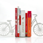 Modern White Bicycle Bookends
