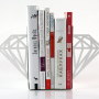 White Modern Diamond Bookends