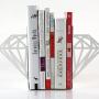 White Modern Diamond Bookends