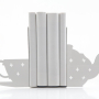 Modern White Teacup Bookends
