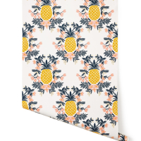 Yellow and Peach Pineapple Wallpaper