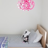 Hot pink chandelier mobile