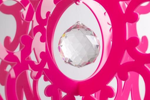 pink chandelier mobile