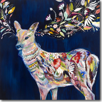 Deer Artwork by Starla Michelle Halfmann