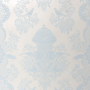 Boy's Damask Wallpaper in Baby Blue