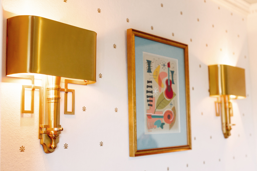 Modern gold sconces