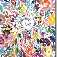 Colorful Love Nursery Art Canvas