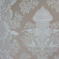 Boy's Damask Wallpaper