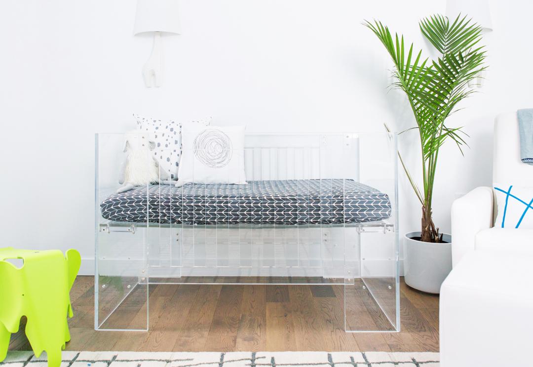 acrylic crib vetro nursery works