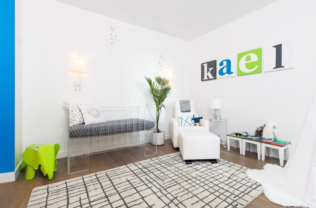 minimalist modern nursery