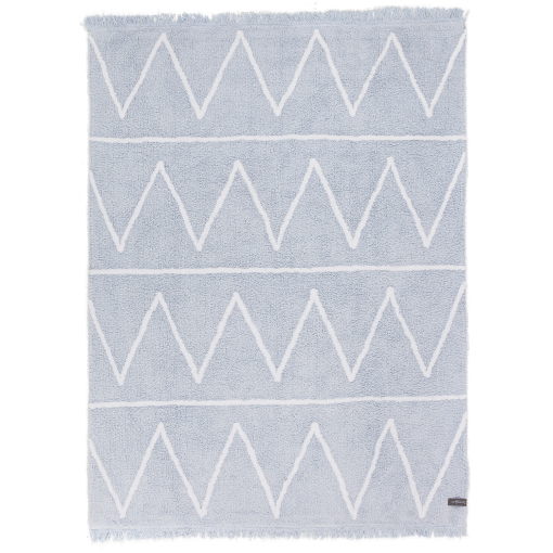 Zigzag Washable Rug Baby Blue Little Crown Interiors