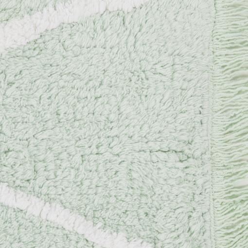 Washable Sisal Look Rugs: ZigZag Washable Rug - Mint Green