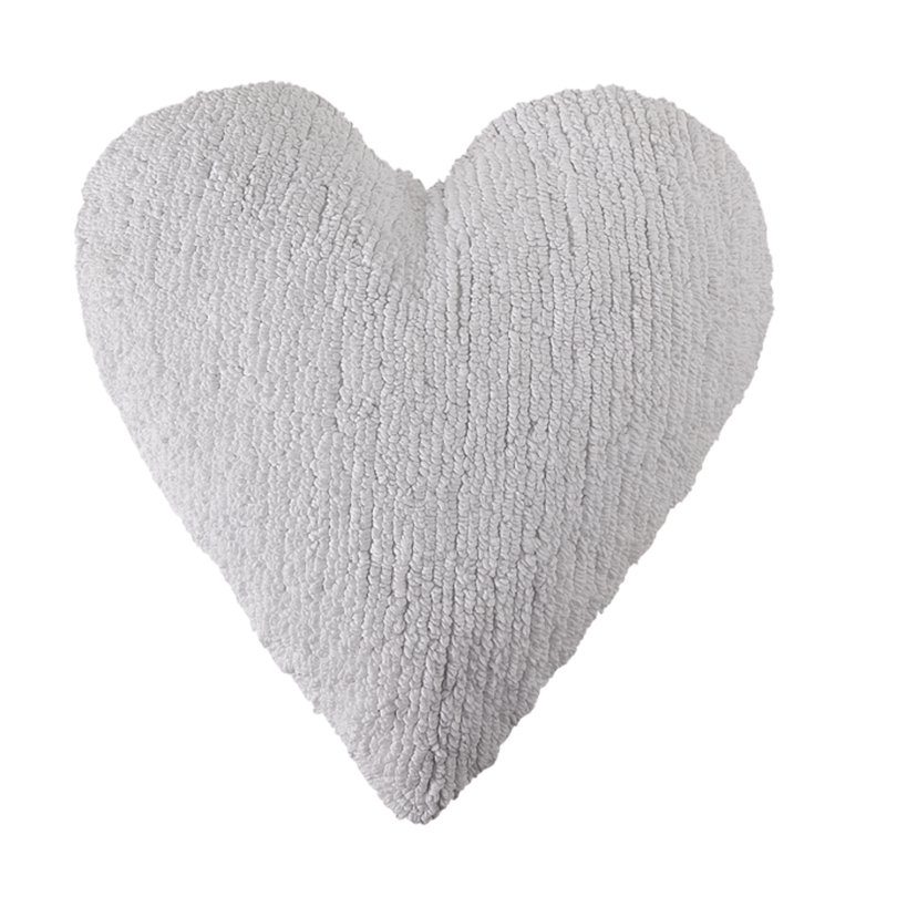 white heart pillow