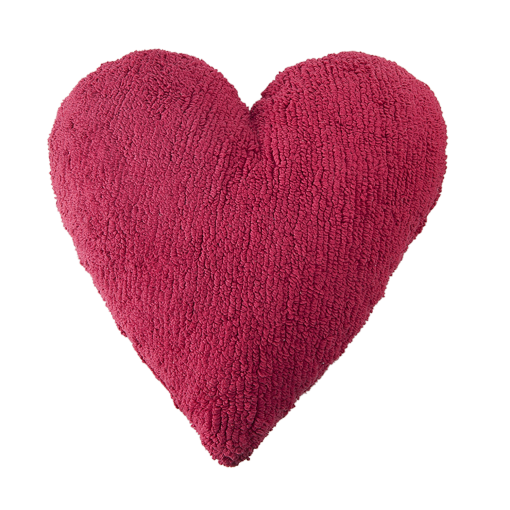 red heart pillow