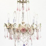 Custom rose crystal chandelier
