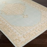 mint medallion rug