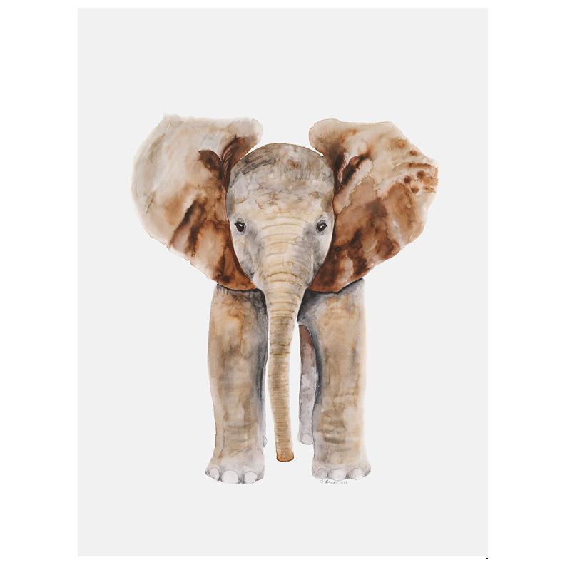 baby elephant art canvas