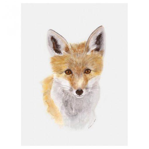 baby fox art canvas