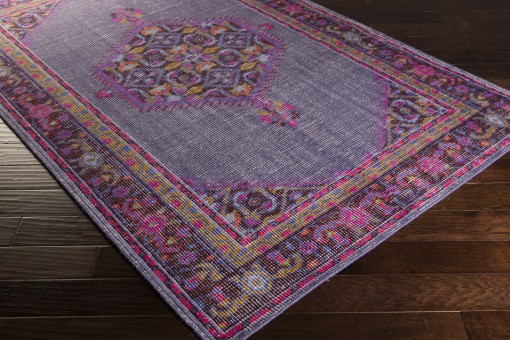 medallion purple overdyed rug