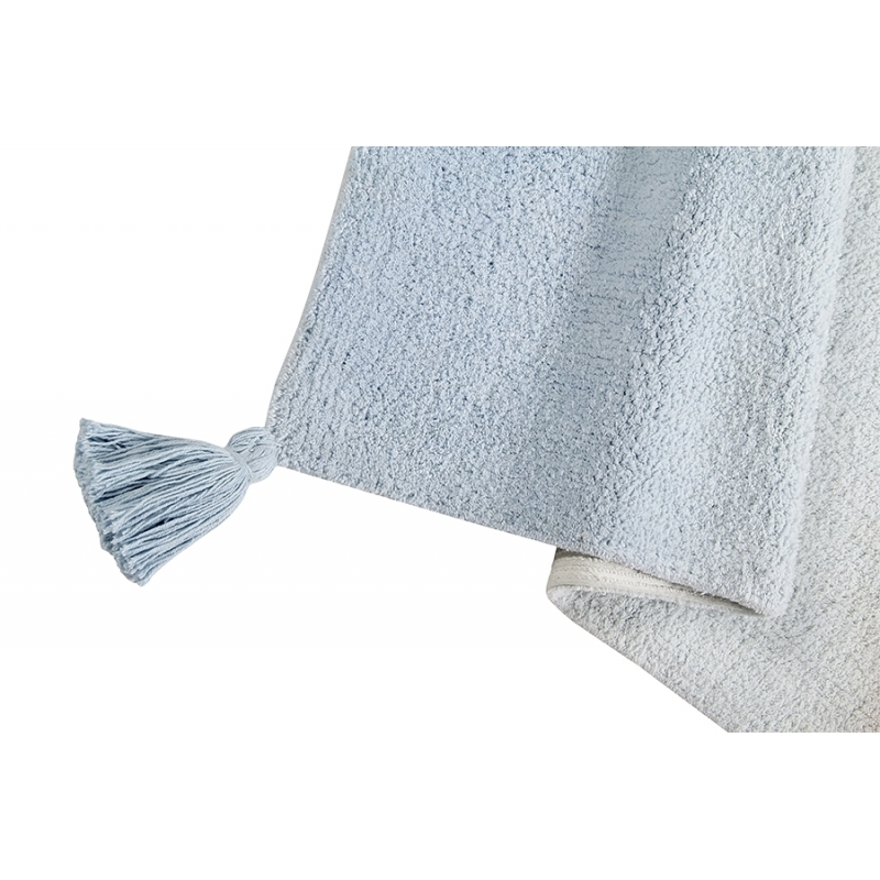 Baby Rug Grey: Washable Ombre Rug - Baby Blue And Grey
