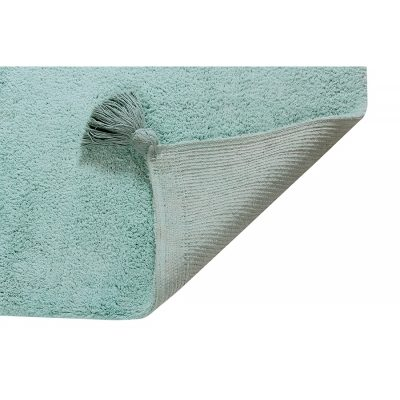 mint green ombre rug