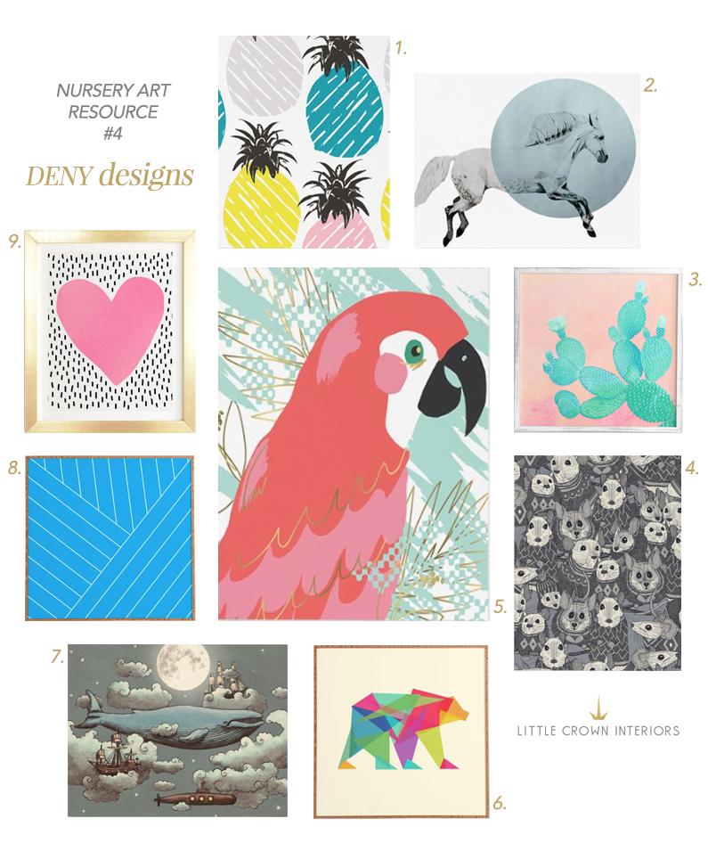 My top 5 favorite nursery artwork resources little crown - Little crown interiors ...