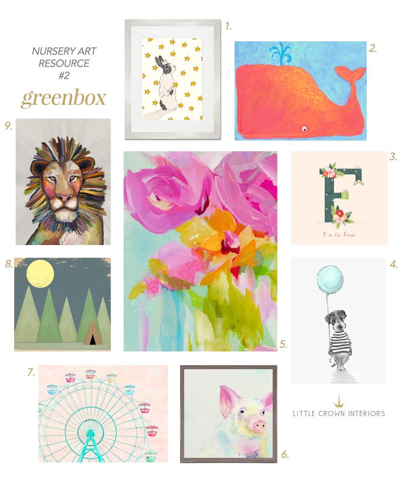 Nursery artwork resources greenbox little crown interiors - Little crown interiors ...