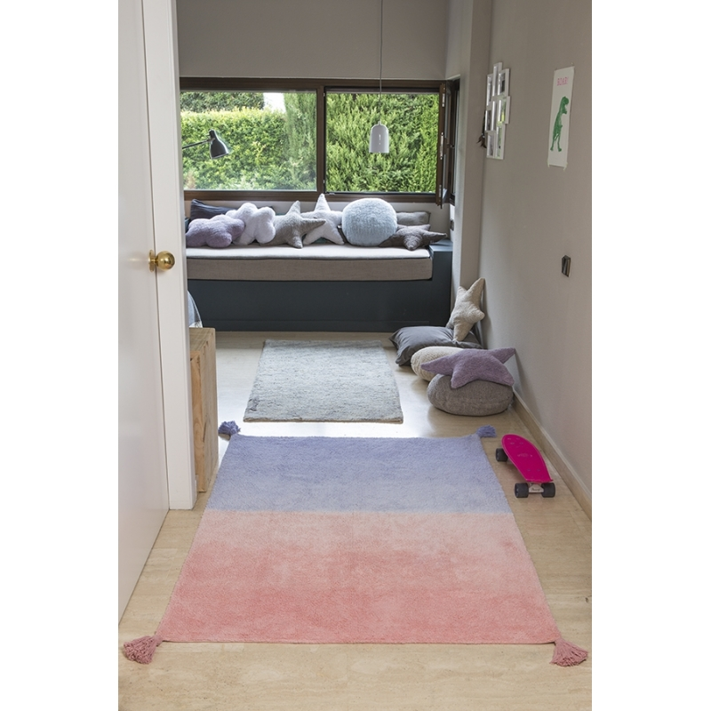 ombre rug coral lavender