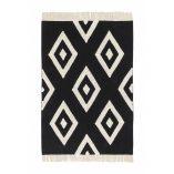 washable diamond fringe rug