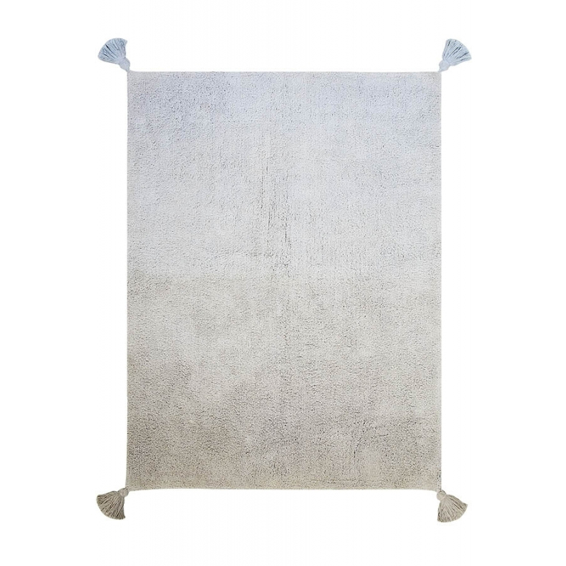 baby blue ombre rug
