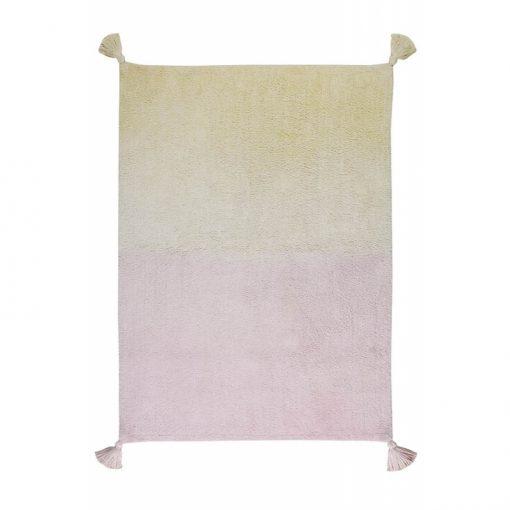 ombre rug vanilla pink