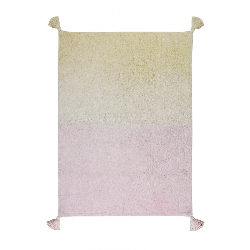 Washable Rugs Pink: Washable Ombre Rug - Vanilla And Pink