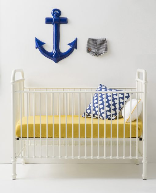 Metal Ivory Crib | Little Crown Interiors Shop