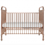 Trending Rose Gold Crib Made of Sturdy Metal   Little Crown Interiors Shop
