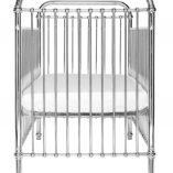 Metal Silver Crib | Little Crown Interiors Shop