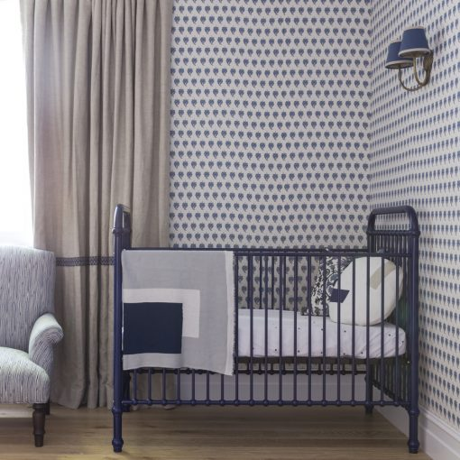 Metal Navy Crib | Little Crown Interiors Shop