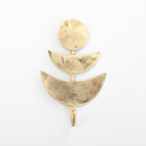 brass moon wall hook