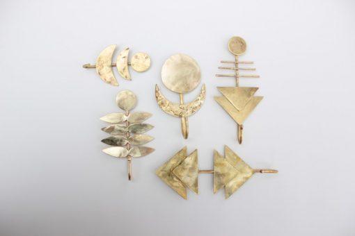 brass geometric wall hook