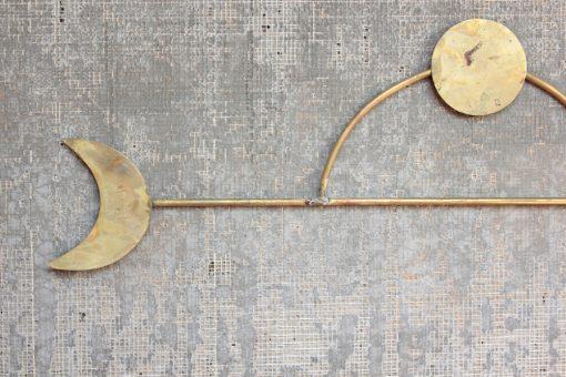 brass moon wall hanging