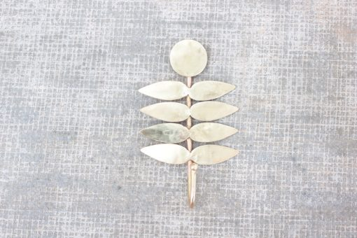 brass fern wall hook