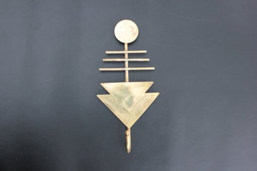brass geometric wall hook